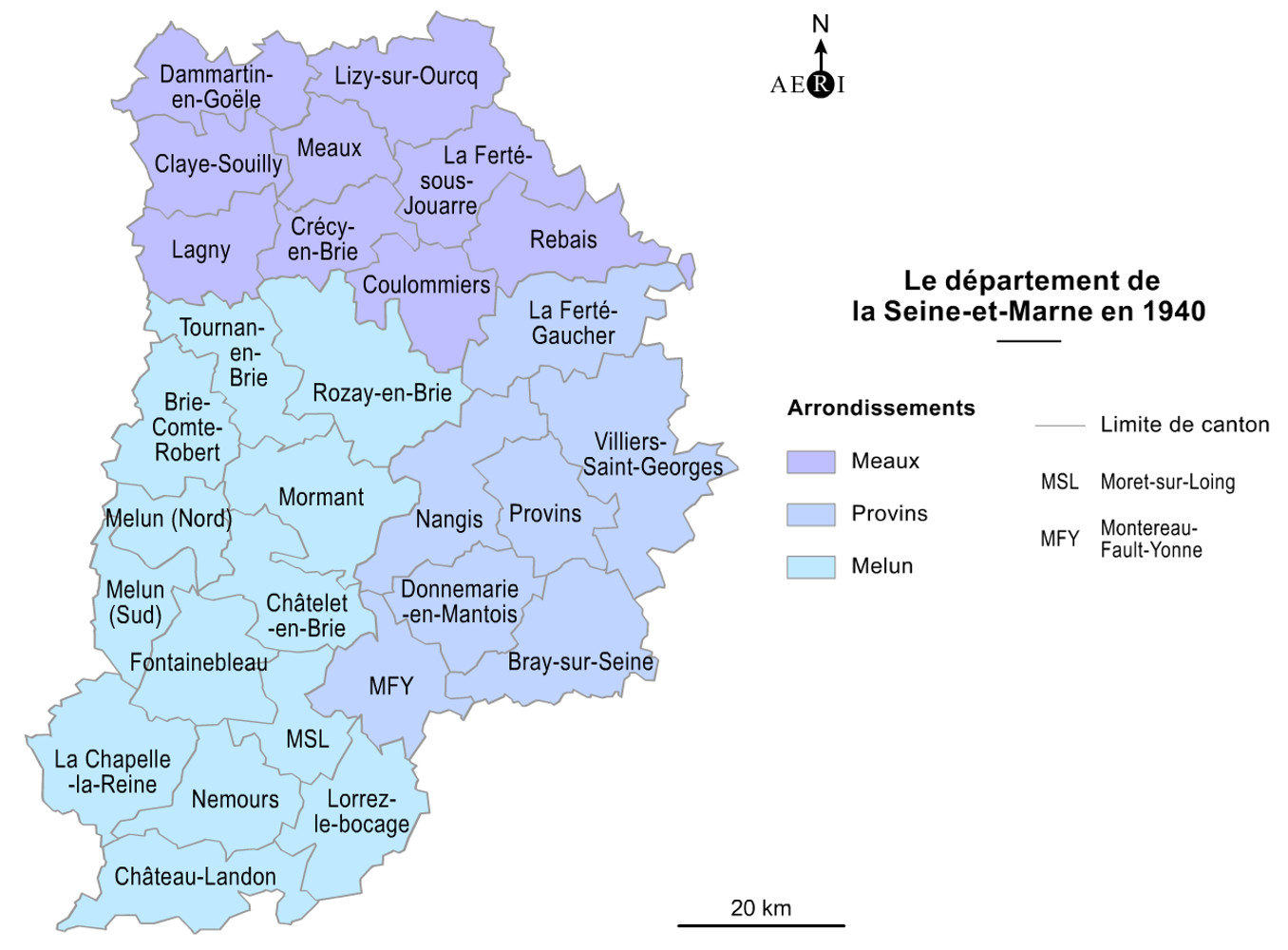 carte departement seine et marne